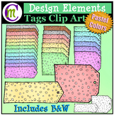Tags Clip Art Pastel Pattern