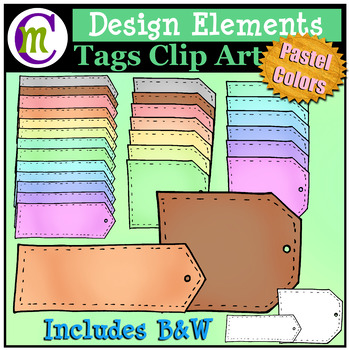 Tags Clip Art | Designing Elements Clip Art | Pastel Color