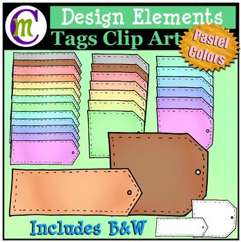 Tags Clip Art Pastel