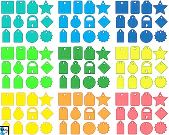 Tags - Clip Art Digital Files Personal Commercial Use cod250