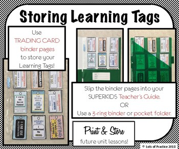 Tags Specific!: SuperKids Second Grade UNITS 9-16 Learning Tags