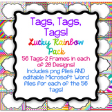Tags, Tags, Tags-56 Editable Name Tags, Classroom Labels