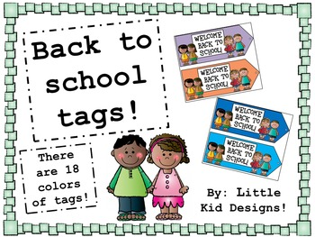 Tags - Welcome Back to School - Welcome Tags - Gift Tags