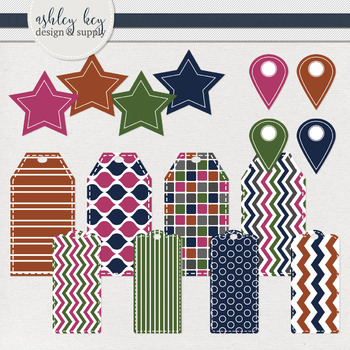 Tags and Labels Clipart Package- Jewel Tone Collection