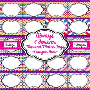 Tags and Labels!  Crayon Box Pack