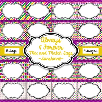 Tags and Labels!  Sunshine Pack
