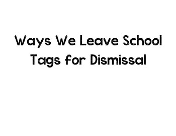 Tags for Dismissal
