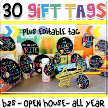 Gift Tags for Student Gifts (EDITABLE TAGS FOR THE ENTIRE YEAR!)