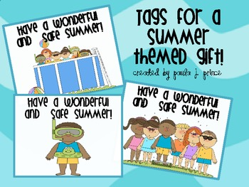 Tags for a Summer Themed Gift!