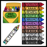 Tahitian Language Crayons / Reo Tahiti (High Resolution)