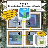 Taiga Biome Biomimicry Discovery Cards Kit  NGSS 1-LS1-1