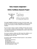 Taíno Museum Assignment -  Native Caribbean Research Project