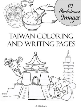 Taiwan Coloring and Writing Pages