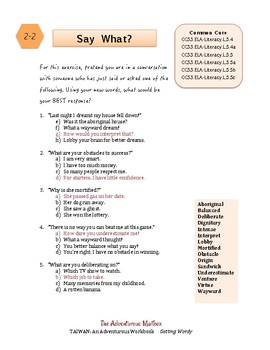 Taiwan: Getting Wordy ~ Vocabulary-building Workbook