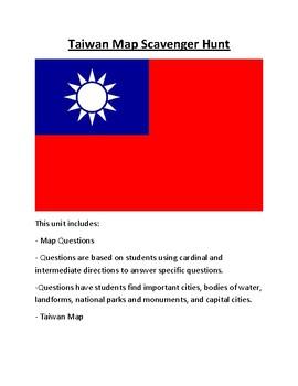 Taiwan Map Scavenger Hunt