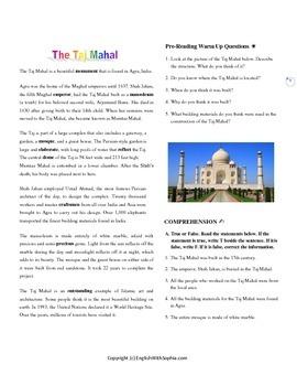 Taj Mahal - SERIES WONDERFUL PLACES