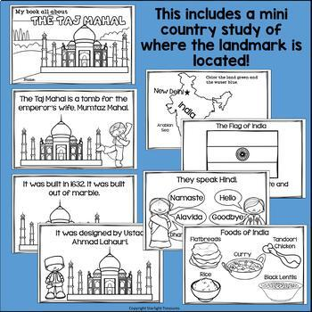 Taj Mahal Complete Unit for Early Learners - World Landmarks