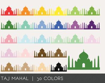 Taj Mahal Digital Clipart, Taj Mahal Graphics, Taj Mahal PNG