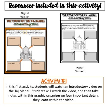 Taj Mahal Web Quest Activity