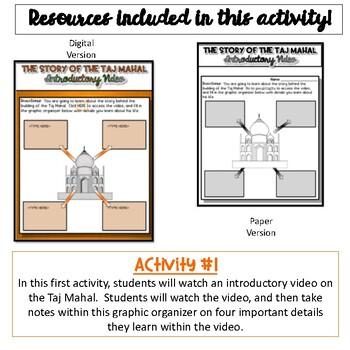 Story of the Taj Mahal WebQuest {Digital AND Paper}