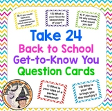 Take 24 Get To Know You Ice Breaker Question Cards Team Building Back to School