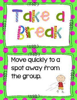 Take A Break Anchor Chart Cards