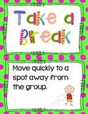 Take A Break Anchor Chart Cards