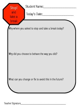 Take A Break: Classroom Management Kit