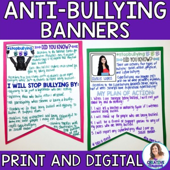Take A Stand Against Bullying Banners and Mini-Research Project