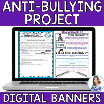 Take A Stand Against Bullying DIGITAL Banners and Mini-Research Project