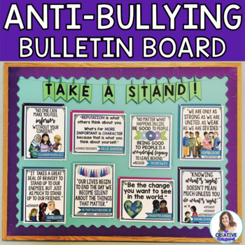 Take A Stand Against Bullying DIY Interactive Bulletin Board