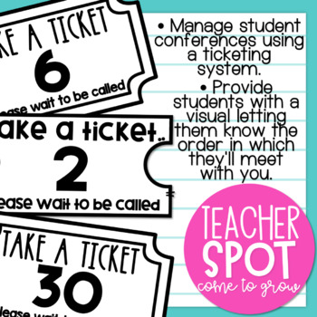 Take A Ticket Student Conferences