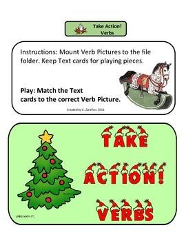 Take Action Verbs #1: File Folder Activity