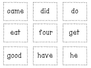 Take All Sight Word Game