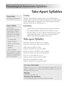 Take Apart Syllables