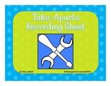 Take Aparts Recording Sheet