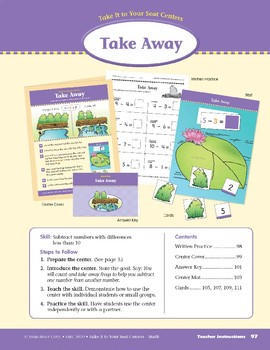 Take Away (Take It to Your Seat Centers Common Core Math)