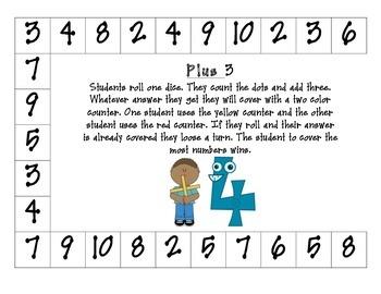 Take Away and Plus Math Games