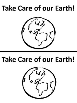 Take Care of Our Earth Emergent Reader