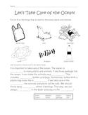 Take Care of the Ocean Worksheet