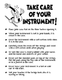 Take Care of your Instrument Hand-Out for String Orchestra