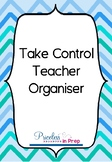Take Control Teacher Organiser Blue Chevron