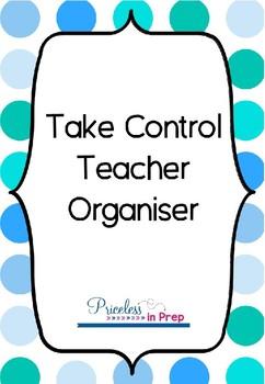 Take Control Teacher Organiser Blue Dots