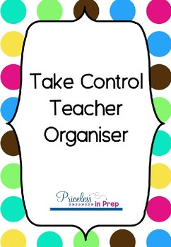 Take Control Teacher Organiser Bold Bubbles