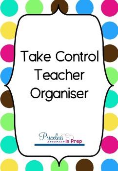 Take Control Teacher Organiser Bold Bubbles #BTS18