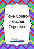 Take Control Teacher Organiser Rainbow Chevron
