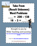 Math Word Problems - Take From (Result Unknown)