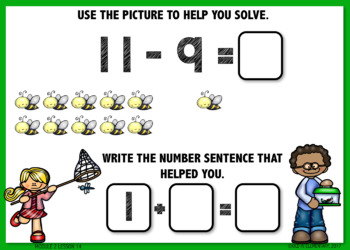 Take From Ten to Solve  BOOM CARDS [Module 2 Lesson 14]