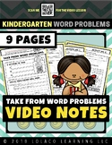 Take From Word Problems: The Video Notes