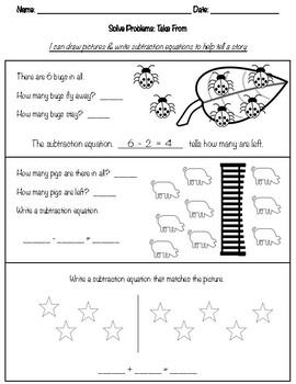 Take From worksheet